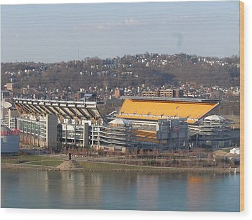 Heinz Field Wood Print by James Guentner