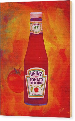 Heinz Tomato Ketchup Wood Print by Nop Briex