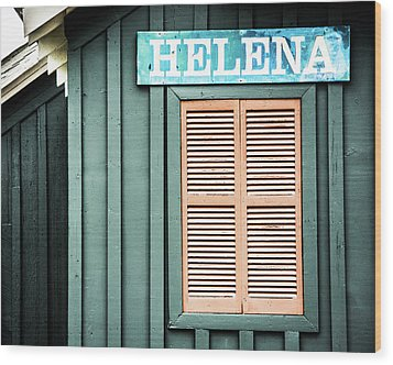 Wood Print featuring the photograph Helena Sign On A Spring Day by Parker Cunningham