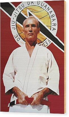 Helio Gracie - Famed Brazilian Jiu-jitsu Grandmaster Wood Print by Daniel Hagerman