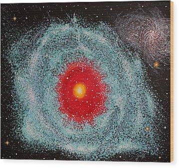 Helix Nebula Wood Print by Georgeta  Blanaru