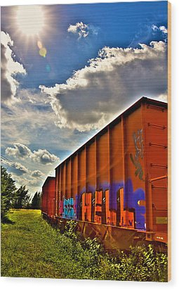 Hell Train Wood Print by William Wetmore