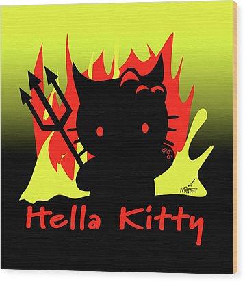 Hella Kitty Wood Print