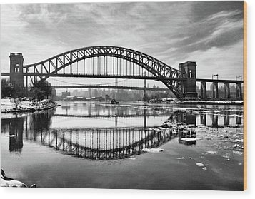 Hellgate Full Reflection Wood Print