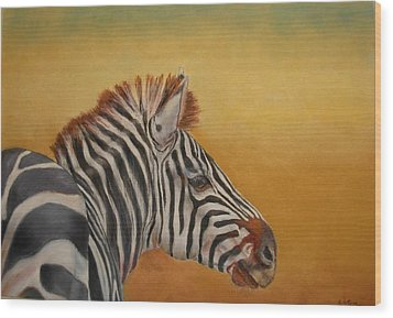 Hello Africa Wood Print by Ceci Watson