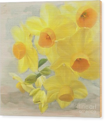 Hello February Wood Print by Cindy Garber Iverson
