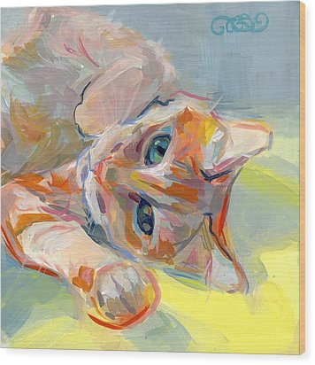 Hello Kitty Wood Print by Kimberly Santini