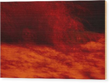 Hells Fire Wood Print by Christopher Rowlands