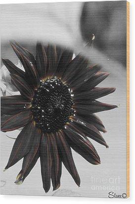 Hells Sunflower Wood Print