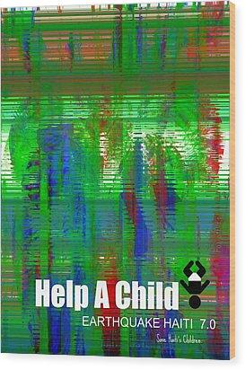 Help Save An Orphan Wood Print by Fania Simon