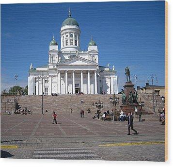 Helsinki Finland-1 Wood Print by Yury Bashkin