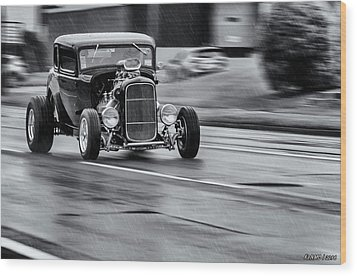 Hemi Powered 1932 Ford 5 Window Coupe Wood Print by Ken Morris