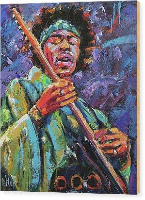 Hendrix Wood Print by Debra Hurd