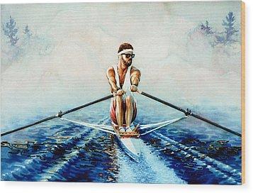 Henley On The Horizon Wood Print by Hanne Lore Koehler