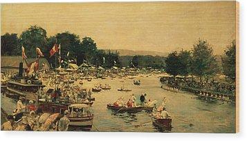 Henley Regatta Wood Print by James Jacques Joseph Tissot