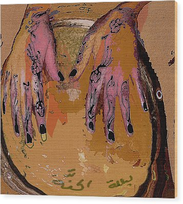 Henna Wood Print by Noredin Morgan