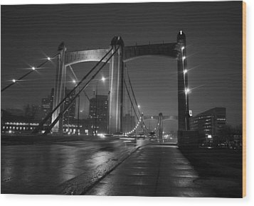 Hennepin Avenue Bridge Wood Print