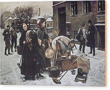 Henningsen  Evicted 1890 Wood Print by Granger