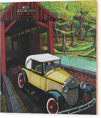Henry Bridge Wood Print by Bob Crawford