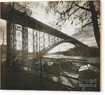Henry Hudson Bridge, 1936 Wood Print by Cole Thompson