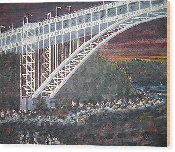 Henry Hudson Bridge Wood Print