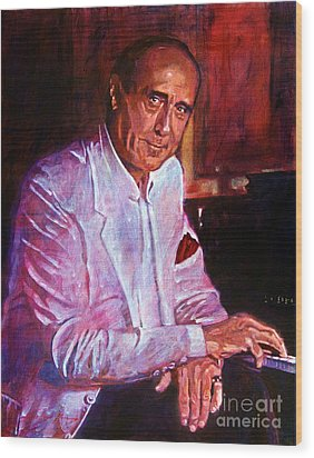 Henry Mancini Wood Print by David Lloyd Glover