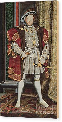 Henry Viii Wood Print by Hans Holbein the Younger