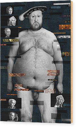 Henry Viii Nude Wood Print