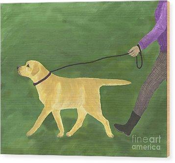 Her Dog Took Her Everywhere Wood Print