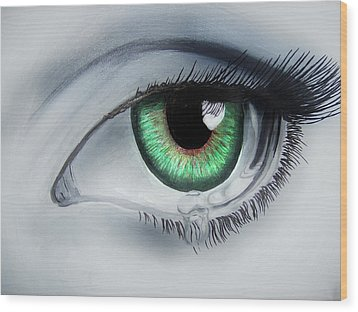 Her Eye Wood Print by Michael McKenzie