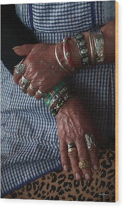 Her Jewelry Wood Print