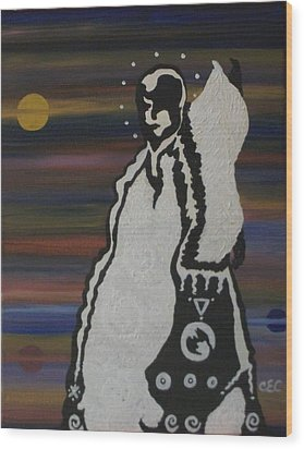 Wood Print featuring the painting Her Name Is Balance by Carolyn Cable