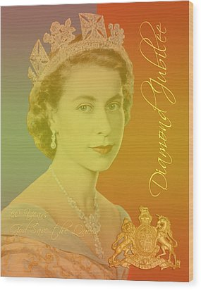 Her Royal Highness Queen Elizabeth II Wood Print