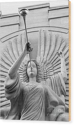 Herald Angel Wood Print by Jeannie Burleson