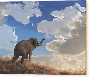 Wood Print featuring the digital art Heralding The Dawn by Daniel Eskridge