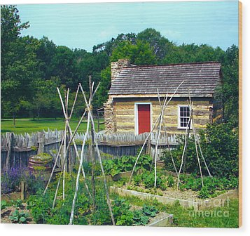 Herb And Vegetable Garden Wood Print by Penny Neimiller
