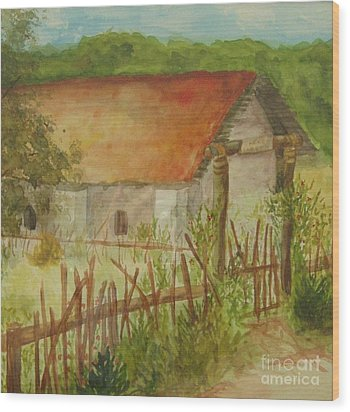 Wood Print featuring the painting Herb Garden by Vicki  Housel