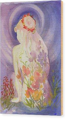 Herbal Goddess  Wood Print