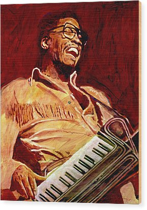 Herbie Hancock Rockit Wood Print by David Lloyd Glover