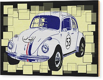 Herbie The Love Bug Wood Print by Bill Cannon