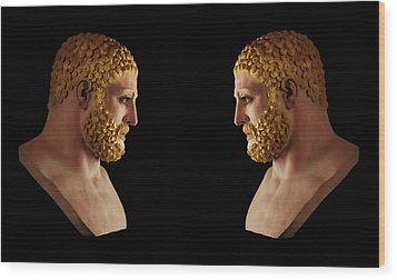 Wood Print featuring the mixed media Hercules - Blondes by Shawn Dall