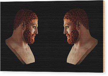 Wood Print featuring the mixed media Hercules - Gingers by Shawn Dall