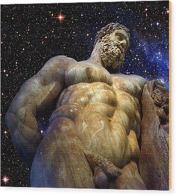 Hercules Wood Print by Valeriy Mavlo