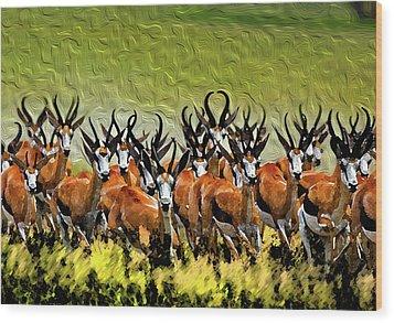 Herd 2 Wood Print by Bruce Iorio