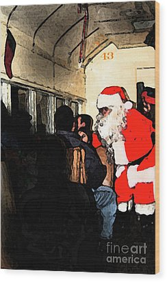 Wood Print featuring the photograph Here Come Santa by Kim Henderson