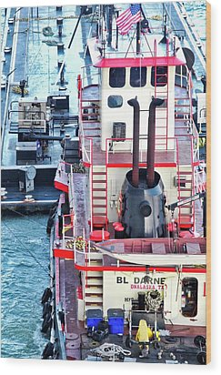 Here Comes The Diesel Fuel For The Ship Wood Print