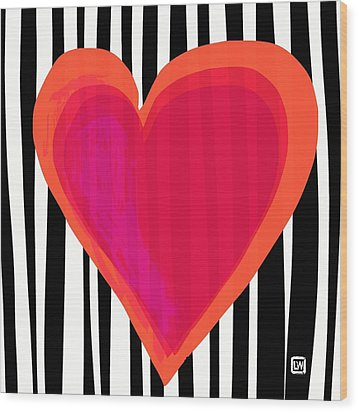 Wood Print featuring the painting Here Is My Heart by Lisa Weedn