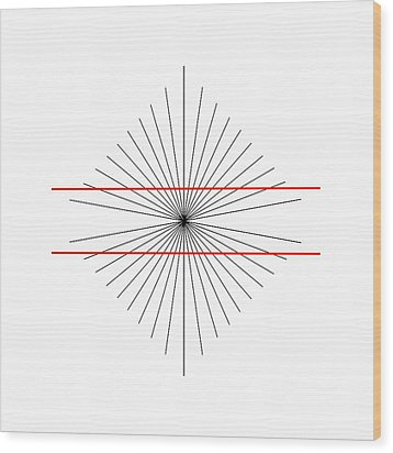 Hering Illusion Wood Print by
