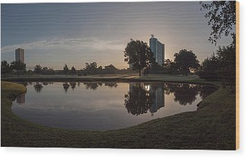 Wood Print featuring the photograph Hermann Park Sunrise by Joshua House