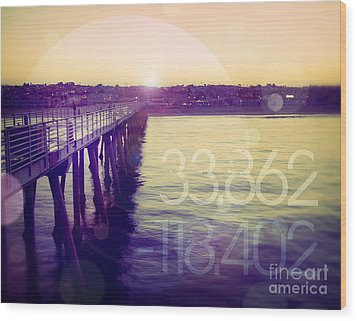 Wood Print featuring the photograph Hermosa Beach California by Phil Perkins
